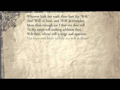 Sonnet 135: Whoever Hath Her Wish, Thou Hast Thy 'Will,'