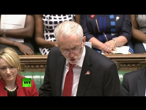 Corbyn & May get heated over public sector pay cap