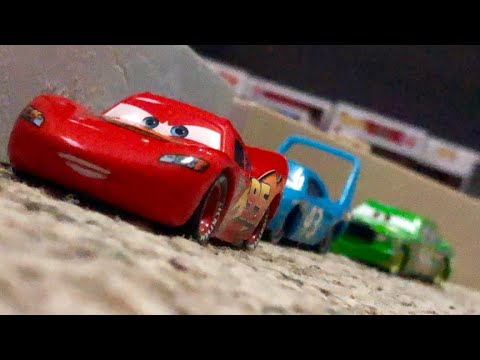 Disney Pixar Cars 1 The King's Crash Re-enactment Stop Motion | Lightning Learns To Drift 🏎💨