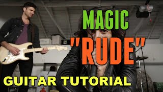 Rude - Magic! *Guitar LESSON*