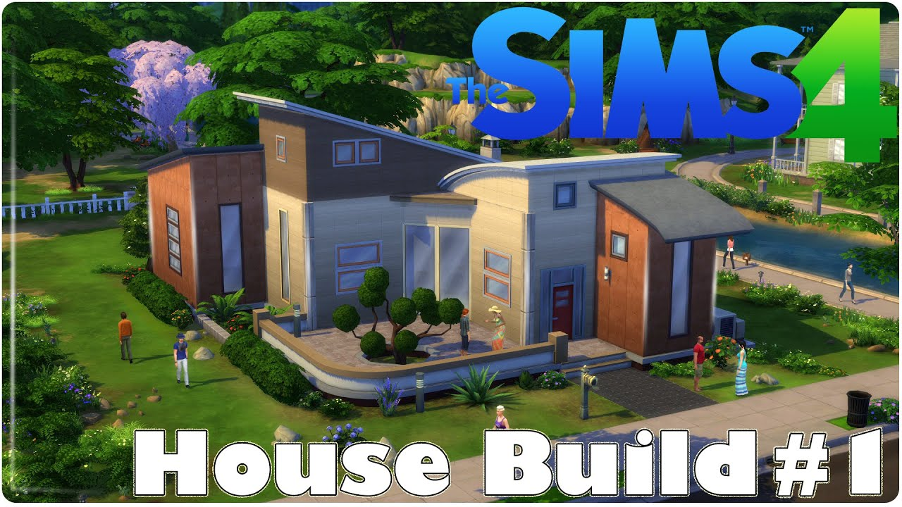 The sims 4 casa moderna tutorial hd ep 1 youtube Casas modernas sims 4 paso a paso
