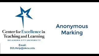 Anonymous Marking