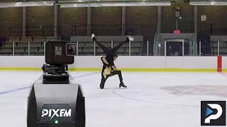 Unboxing Pixem / Pixio + Test on ice + Rhythm Dance parts #RobotCameraman #iceskating #icedance
