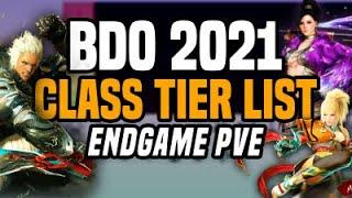 2021 BDO Class Tier List - Endgame PVE - Black Desert Online