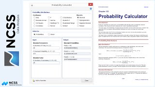 Statistical Probability Calculator in NCSS