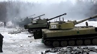 """Бригада """"Кальмиус"""" работает в Дебальцевском котле. Ополчение Донбасса."""