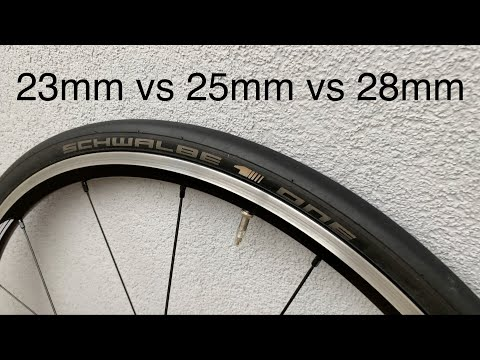 23 vs 25 vs 28mm road tyres