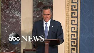 Emotional Romney says he'll vote to convict Trump l ABC News