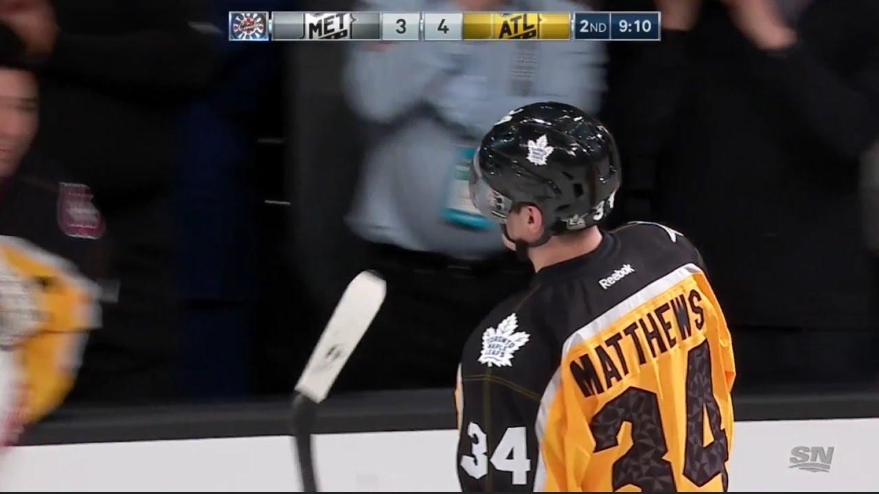 new product 08169 e5a84 Auston Matthews first NHL All-Star Goal | 2017 NHL All-Star Games