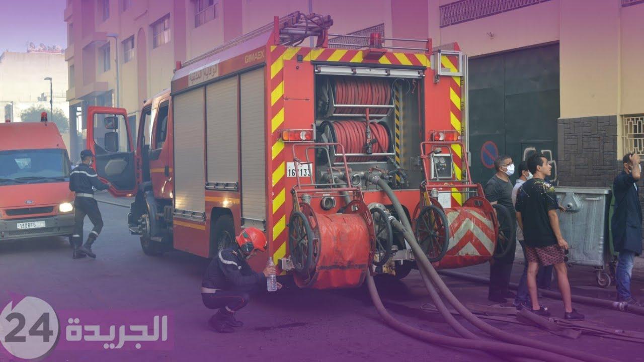 حريق مهول بوحدة صناعية بحي بسيجور بالبيضاء شوفوا أشنو وقع