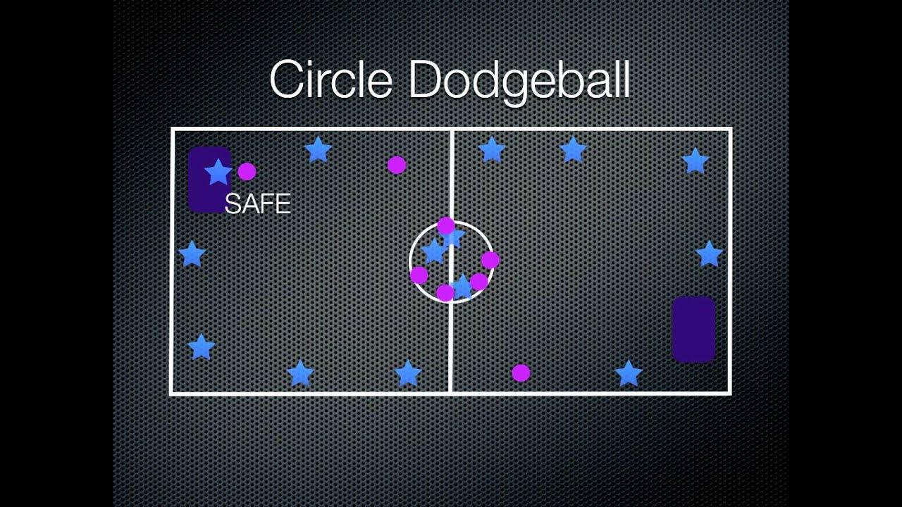 P.E. Games - Circle Dodgeball - YouTube