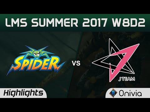 WS vs JT Highlights Game 2 LMS 精華 夏季職業聯賽 2017 Wayi Spider vs J Team by Onivia