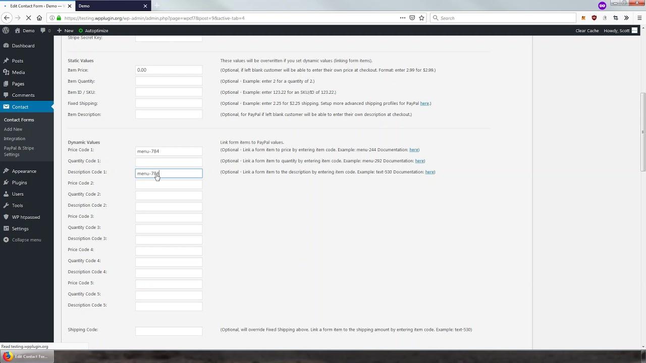 Contact Form 7 – PayPal & Stripe Add-on – WordPress plugin