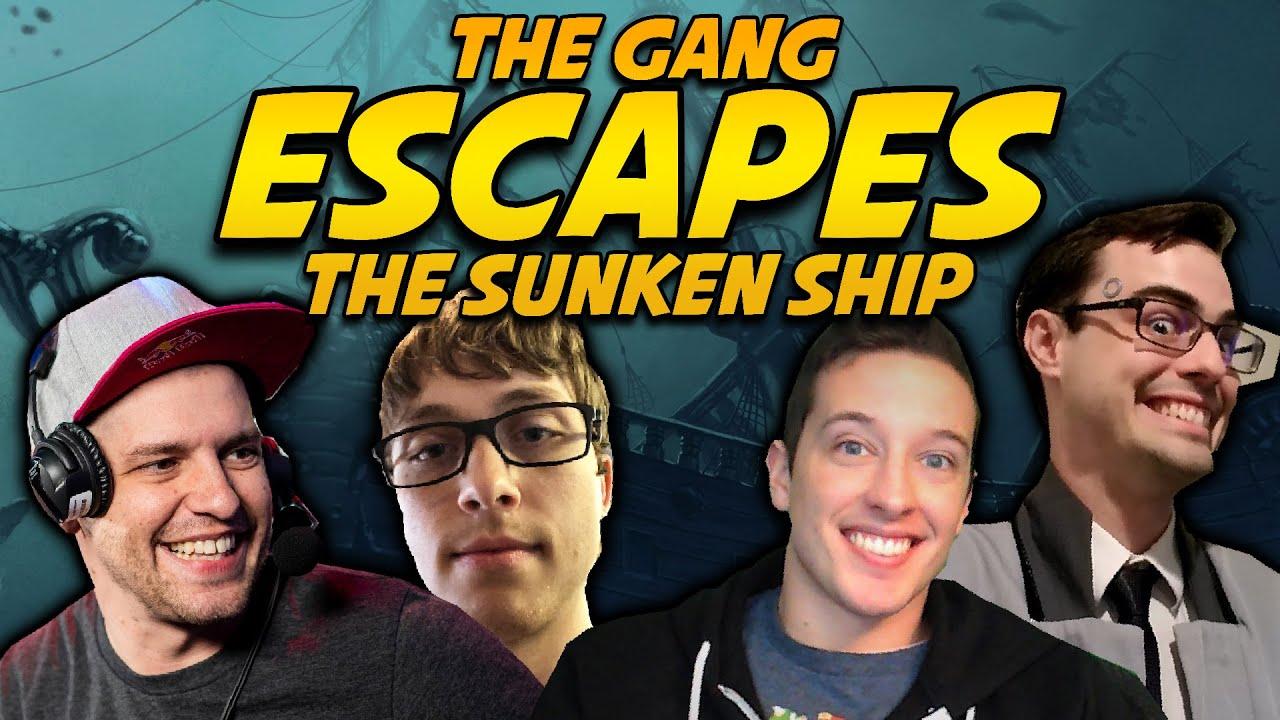 CarlSagan, Thabeast, DGR, and GrandPooBear must escape A SUNKEN SHIP TOGETHER!