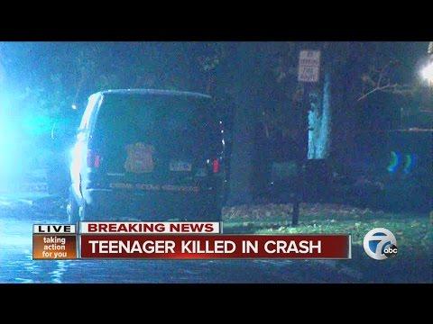 Teenager killed in Detroit crash
