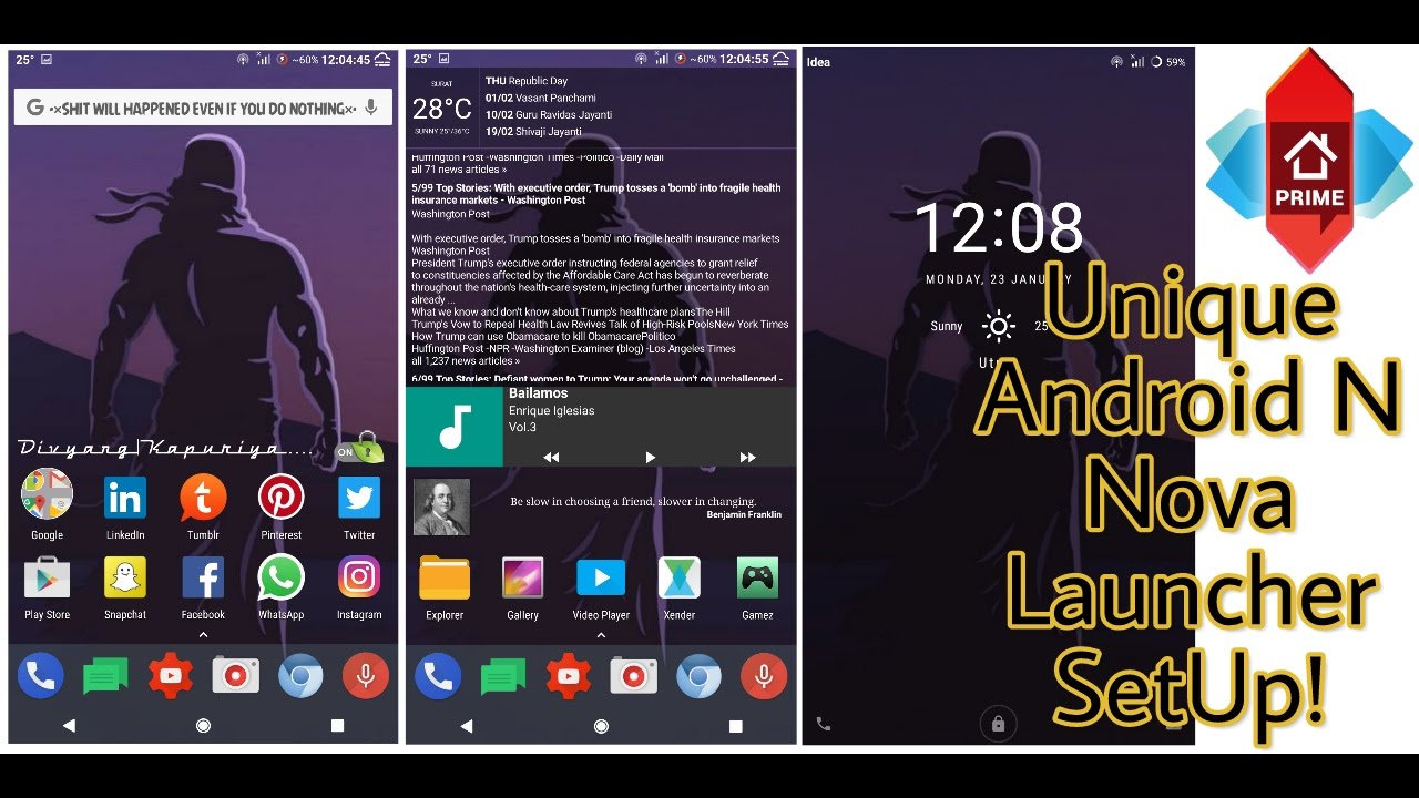 Android N Launcher