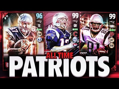 ALL TIME NEW ENGLAND PATRIOTS TEAM! MADDEN 17 SQUAD BUILDER