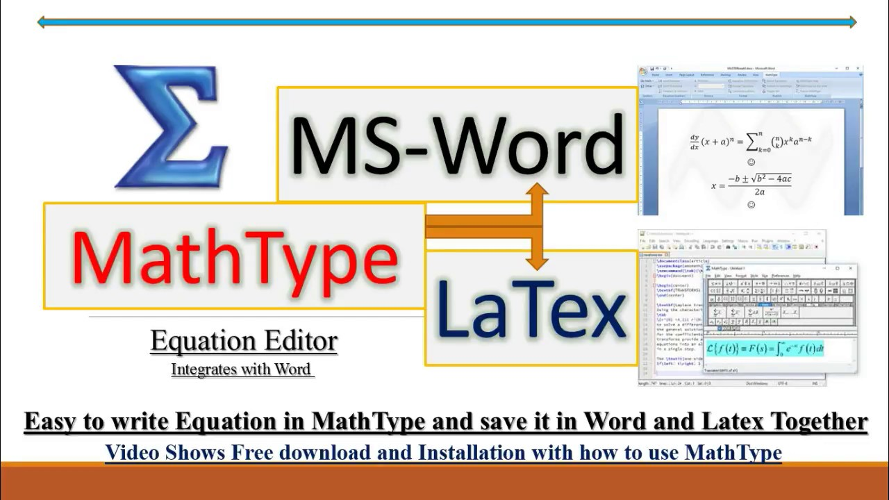 MathType6 9 (Equation Editor)- create equations for Word, Latex etc