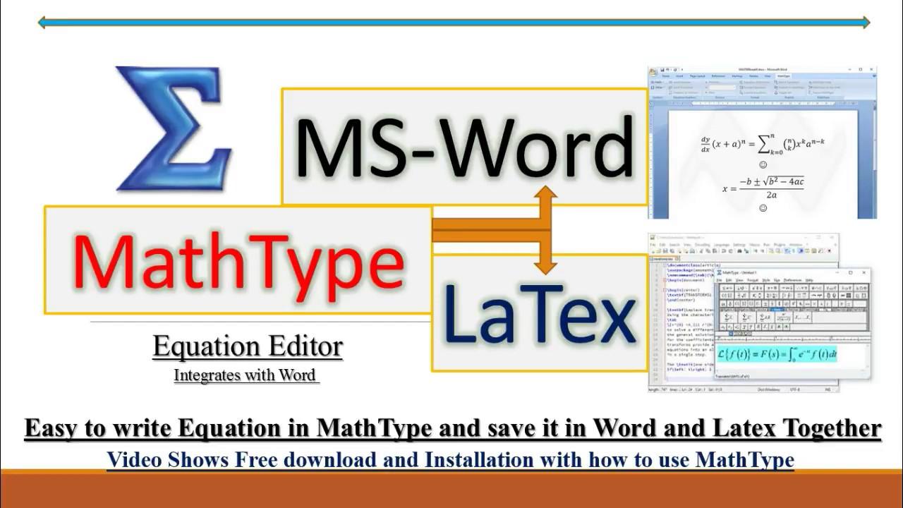 MathType20.20 (Equation Editor)- create equations for Word, Latex etc.