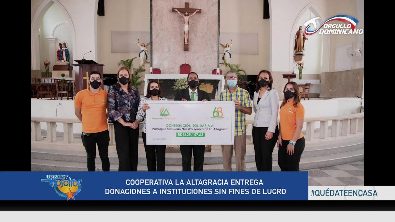 Cooperativa La Altagracia realiza donaciones a instituciones