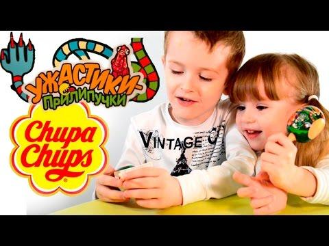 Chupa Chups Surprise Открываем чупа чупсы из серии Ужастики прилипучки