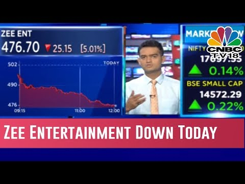 Zee Entertainment Down In Trade Today | Halftime Report