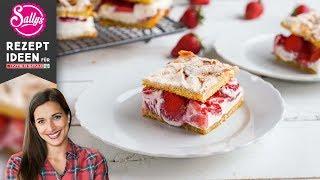 Sallys Erdbeer-Baiser-Schnitten