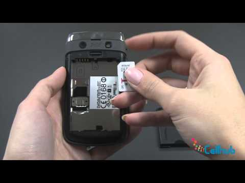 Install Sim Card and Battery on BlackBerry Bold 9780