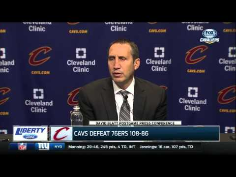 David Blatt says the Cleveland Cavaliers didn't mess around