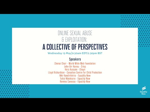 Online Sexual Abuse & Exploitation: A Collective of Perspective Webinar