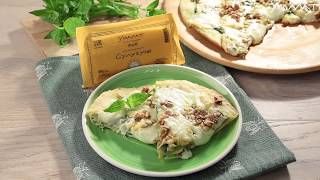 Орехово-сырная пицца с сулугуни