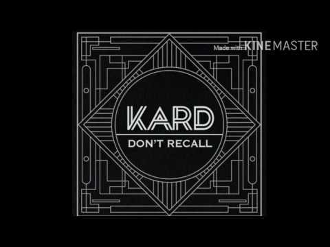 KARD- Don't Recall Audio (mp3)