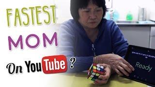 My Mom Solves a Rubik's Cube in 1:52.95 | Mom YTUWR?