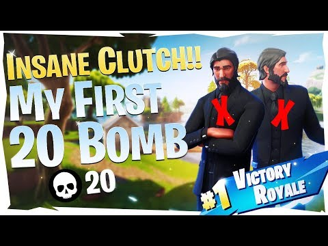 MY FIRST 20 BOMB EVER - NASTY CLUTCH (Fortnite Battle Royale)