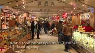 World food prices up 3.9% in October: UN food agency