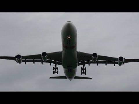 "ILA 2018 | Spectacular Overhead landing AIRBUS INDUSTRIE  A340 ""BLADE"" landing for ILA 2018"