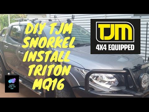 HOW TO INSTALL YOUR TJM Tailwedge snorkel / installation on Mitsubishi Triton / DIY PROJECT