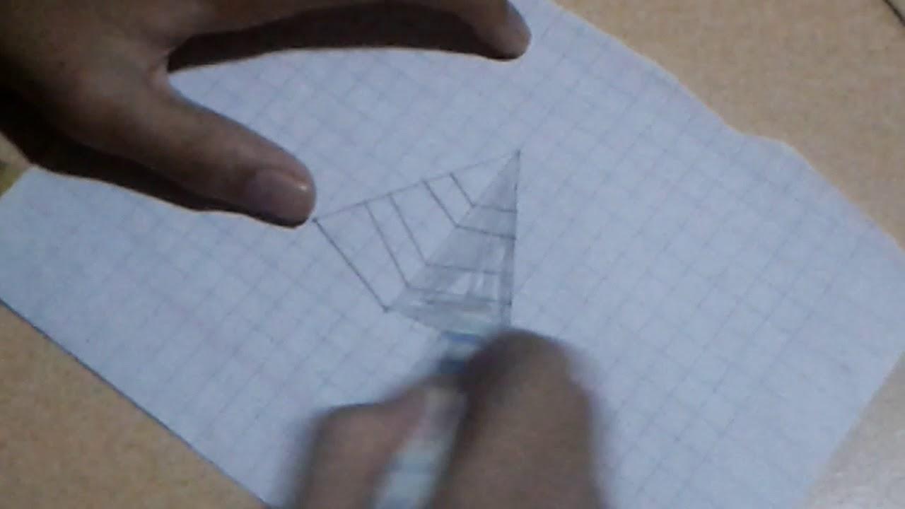 Vẽ hình kim tự tháp 3d