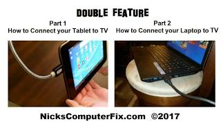 How to connect laptop to TV HDMI & How to connect tablet to TV HDMI - Easy & Fun