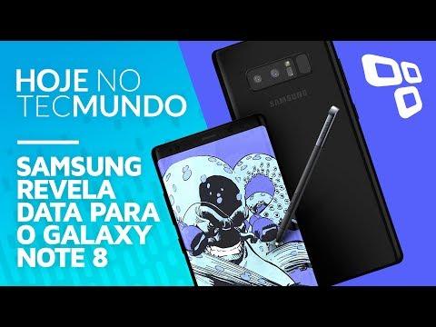 Samsung revela data para o Galaxy Note 8 - Hoje no TecMundo