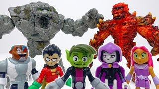 Teen Titans Go~! Lava Golem & Stone Monster Are Making Troubles #ToyMartTV