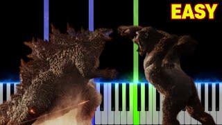 Godzilla vs Kong (Trailer Music) - Here We Go | EASY Piano Tutorial
