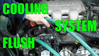 RADIATOR FLUSH cooling system - the easy way - most cars trucks vans SUVs gm