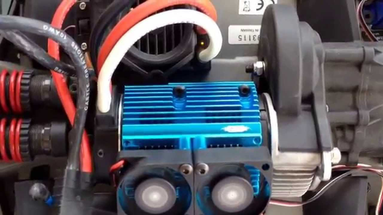 E Revo Brushless With Yeah Racing Heat Sink Youtube