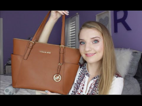 0584ca58a283d6 Michael Kors Jet Set Top-Zip Tote Review + How I Use Mine! - YouTube