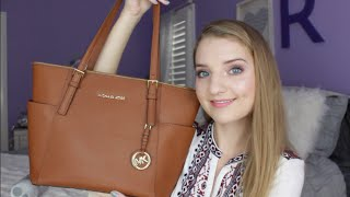 Michael Kors Jet Set Top-Zip Tote Review + How I Use Mine!