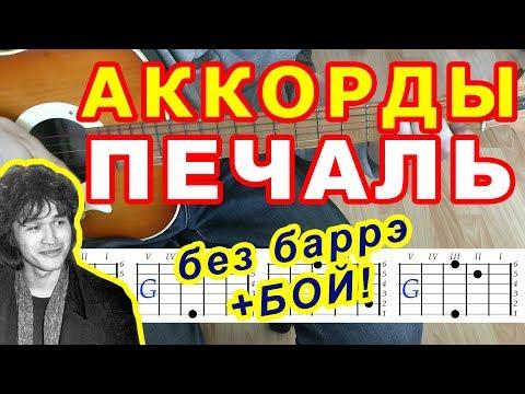 Печаль Аккорды 🎸 Виктор Цой группа Кино ♪ Разбор песни на гитаре ♫ Бой Текст