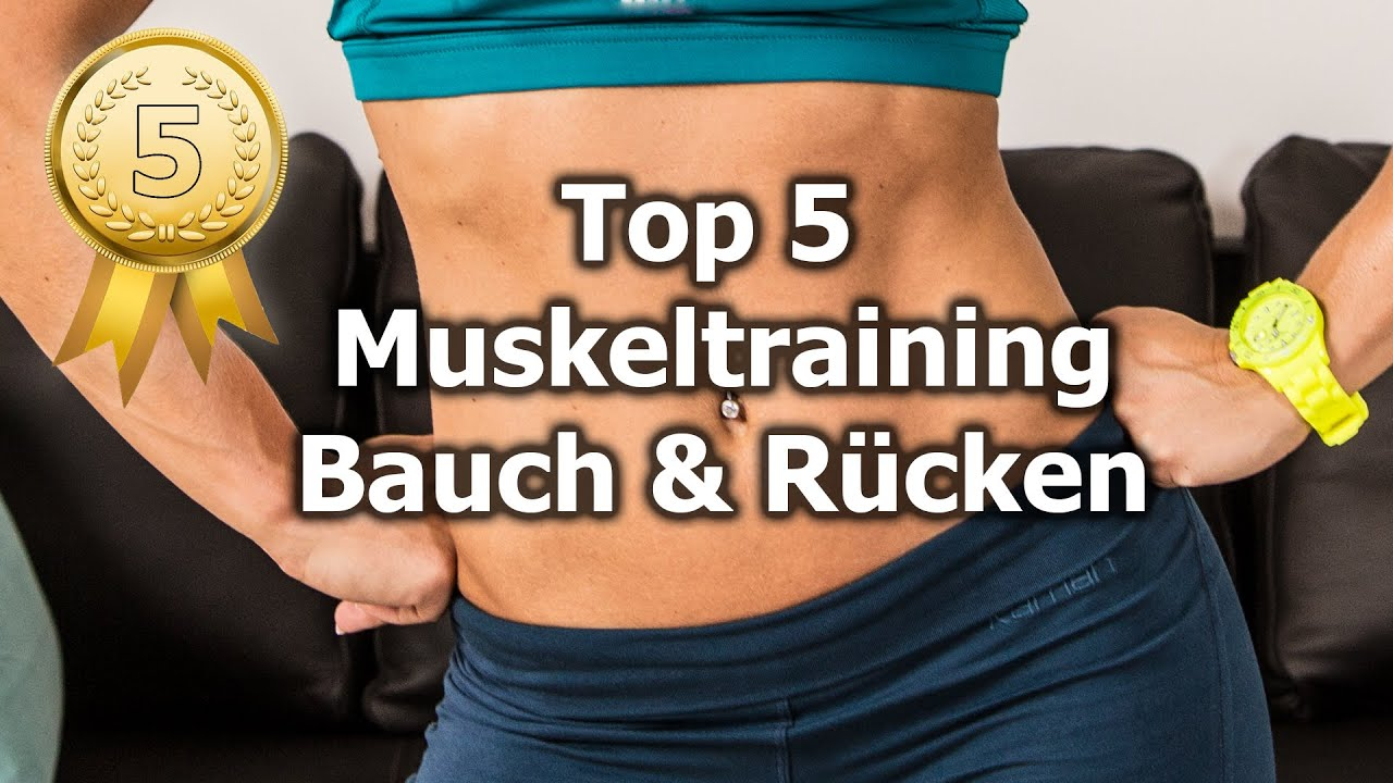 top 5 muskel bungen f r bauch und r cken training youtube. Black Bedroom Furniture Sets. Home Design Ideas