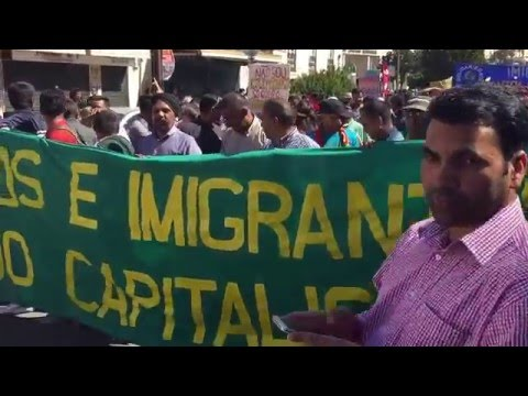 Protest against Immigration (SEF) in Portugal on Labour Day at Martim Moniz (1/2)