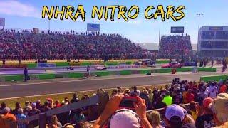 NHRA Funny Car drag race